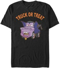 disney pixar men's cars vampire mater truck or treat short sleeve t-shirt