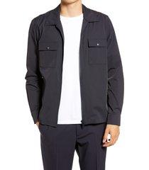 men's reiss wellington zip front jacket, size medium - blue