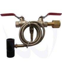 "new paintball co2 fill station tank bottle refill dual valve 40"" hose"