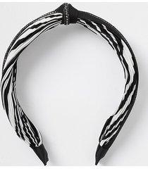 river island womens black chain trim zebra print headband