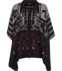 etro oversize patterned poncho