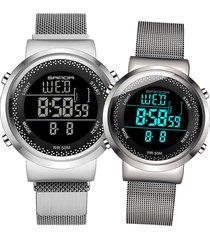 relojes para parejas sven 383 digital - plata