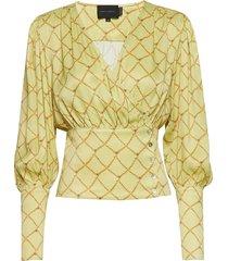 mie blouse blouse lange mouwen geel birgitte herskind