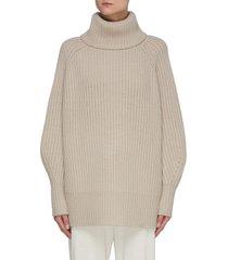 jumbo raglan roll neck sweater