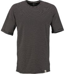 kultivate long fit zwart gestreept t-shirt