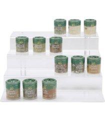 mind reader 4-tier spice rack pantry kitchen cabinet organizer