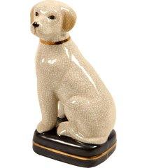 escultura decorativa de porcelana cachorro whelp