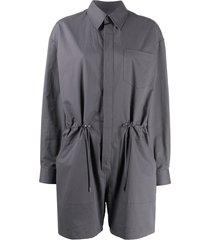 maison margiela drawstring waist playsuit - grey