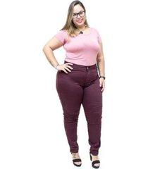 calça feminina credencial plus size skinny aneli