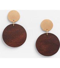 maurices womens brown wood drop earrings