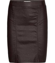 bykiko skirt 3 - knälång kjol brun b.young
