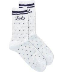 polo womens dot stripe crew socks