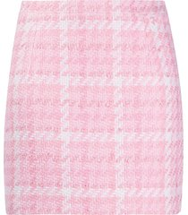 alessandra rich fitted tweed skirt - pink