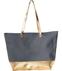 torba plażowa - elegancka złota plażówka
