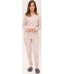 pijama legging feminino mon cheri lua luá estampado