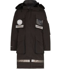 canada goose x juun.j snow mantra hooded parka coat - black
