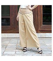 cotton capri pants, 'brown desert' (thailand)