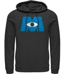 disney pixar men's monsters inc. eye logo, pullover hoodie