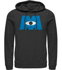 disney pixar men's monsters inc. eye logo, pullover hoodie