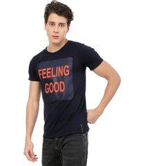 camiseta azul oscuro manpotsherd feeling