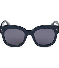 stella mccartney women's 51mm square sunglasses - silver