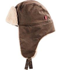 levi's men's waxed canvas trapper hat