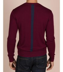 mills supply men's hudson cashmere blend pullover sweater with colorblocked stripe