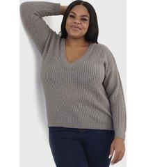 sweater brave soul gris - calce regular
