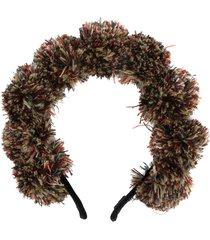 parlor pompom detail headband - green