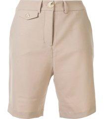anna quan patsy coin pocket shorts - brown
