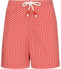 orlebar brown geometric print swim shorts - red