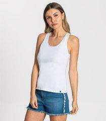 regata cotton leve básica feminina rovitex branco