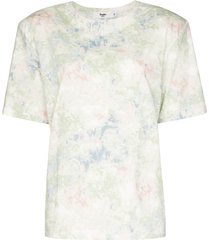 frankie shop jeanette tie-dye padded t-shirt - green