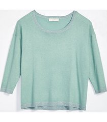 loft petite shimmer 3/4 sleeve sweater