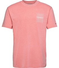 tjm repeat logo tee t-shirts short-sleeved rosa tommy jeans