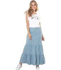 falda abedul azul ragged pf51320039