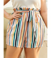 yoins plus talla cinturón diseño bolsillo lateral diseño shorts
