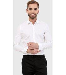 camisa blanco calvin klein