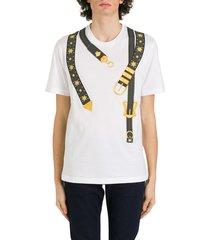 versace belt vintage printed t-shirt