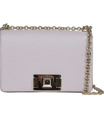 furla mimi mini shoulder bag in beige color leather