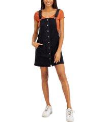 tinseltown juniors' patch pocket overall dress