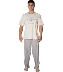 pijama de inverno masculino adulto manga curta