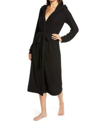 women's honeydew lounge pro hooded robe, size small - black