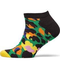 leopard low sock ankelstrumpor korta strumpor grön happy socks