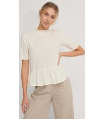 na-kd vid blus med tryck - offwhite