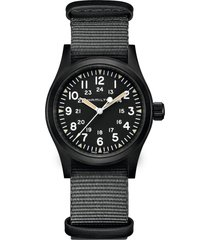 hamilton khaki field nato strap watch, 38mm