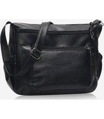 casual pockets zipper crossbody bag