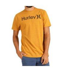 camiseta hurley silk o&o solid masculina mostarda
