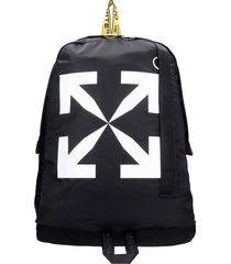 off-white arrow easy backpack in black polyamide