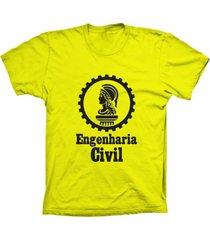 camiseta baby look lu geek engenharia amarelo - amarelo - feminino - dafiti
